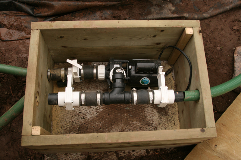 how to install an external pond pump